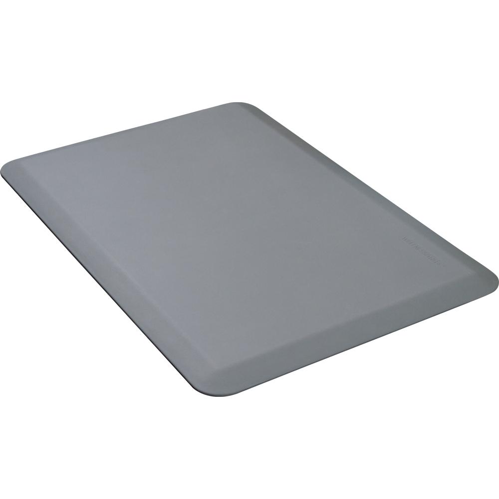 Wellness Mats 32WMRGRY 3 x 2-ft Mat, (APT) Poly, High Comfort, No-Slip, Gray