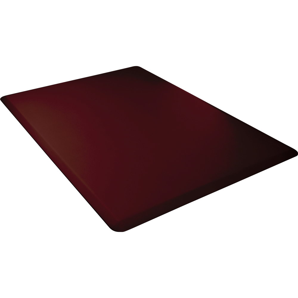 Wellness Mats 54WMRBUR Comfort Mat, 5 x 4-ft, (APT) Poly, No-Slip, Burgundy