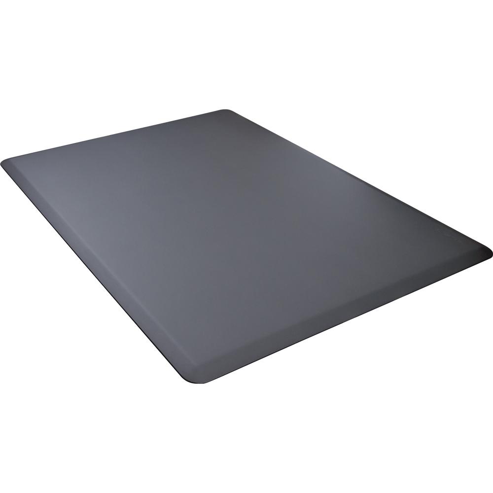 Wellness Mats 54WMRGRY High Comfort Mat, 5 x 4-ft, (APT) Poly, No-Slip, Gray
