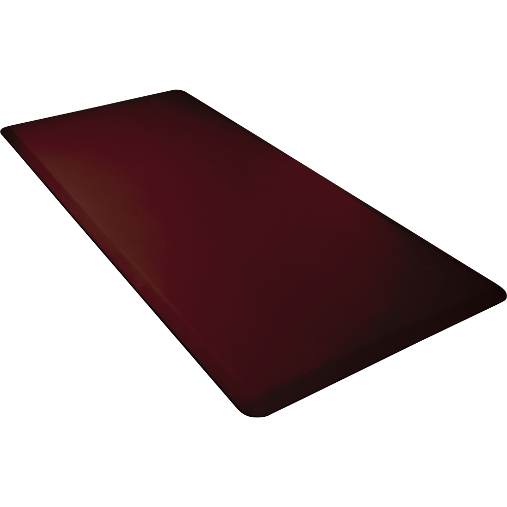 Wellness Mats 63WMRBUR Comfort Mat, 6 x 3-ft, (APT) Poly, No-Slip, Burgundy