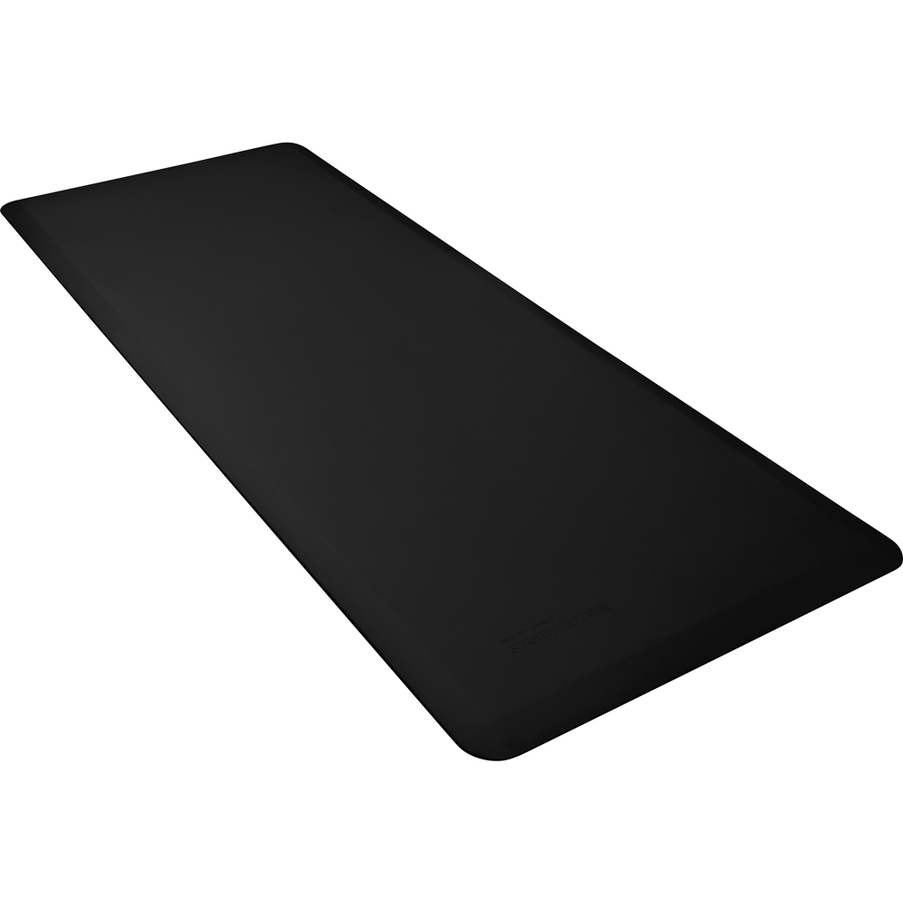 Wellness Mats FIT6BLK Fitness Mat w/ No-Trip Beveled Edge & Non-Slip Material, 6x2.5-ft, Black
