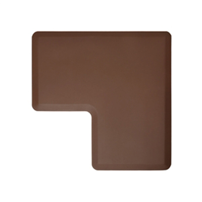 Wellness Mats LINK290BRN 90-Degree Corner Mat w/ No-Trip Beveled Edge & Non-Slip Material, 2-ft W, Brown