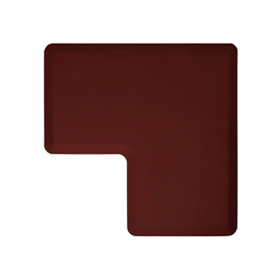 Wellness Mats LINK290BUR 90-Degree Corner Mat w/ No-Trip Beveled Edge & Non-Slip Material, 2-ft W, Burgundy