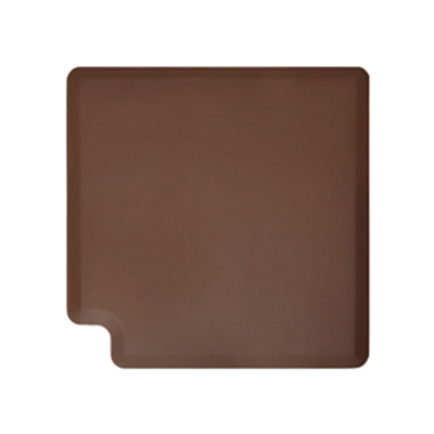 Wellness Mats LINK390BRN 90-Degree Corner Mat w/ No-Trip Beveled Edge & Non-Slip Material, 3-ft W, Brown
