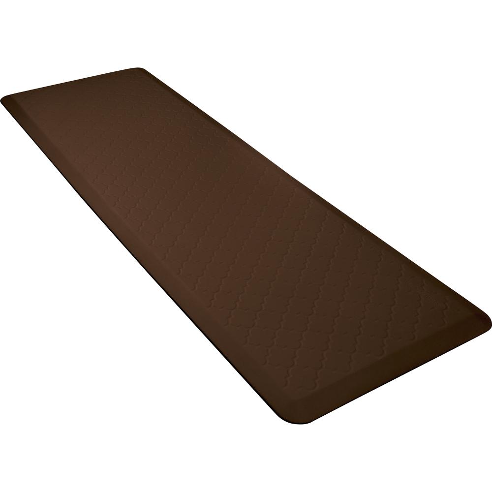 Wellness Mats MT62WMRBRN Textured Patterns Mat, 6 x 2-ft, Poly, No-Slip, Brown