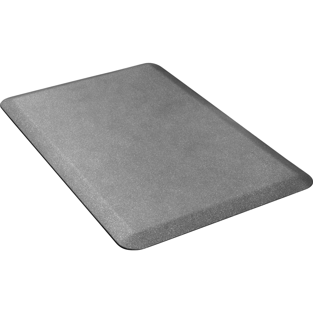 Wellness Mats P32WMRGS Wellness Mat w/ No-Trip Beveled Edge & Non-Slip Material, 3x2-ft, Granite Steel