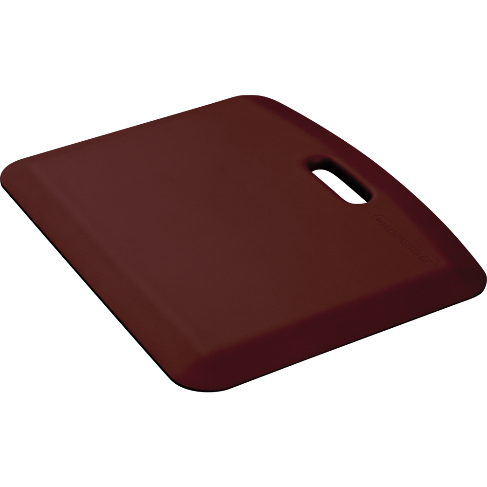 Wellness Mats PCOMPWMRBUR Companion Mat w/ No-Trip Beveled Edge & Non-Slip Material, 22x18-