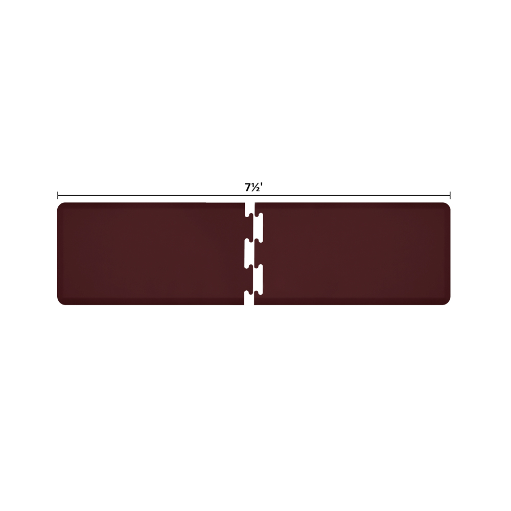 Wellness Mats RS2WMP75BUR Puzzle Piece Runner w/ Non-Slip Top & Bottom, 7.5x2-ft, Burgundy