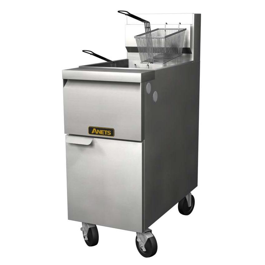 Anets 14GS LP Gas Fryer - (1) 50-lb Vat, Floor Model, LP