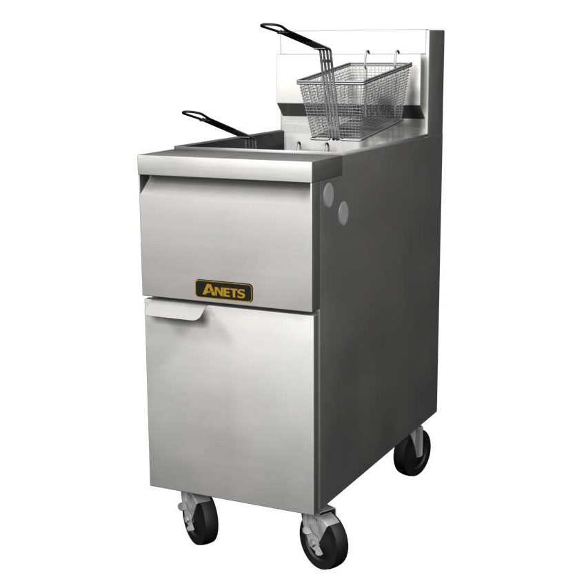 Anets 14GS NG 35-50-lb GoldenFry Fryer, Snap Action Hyrdaulic Control, NG