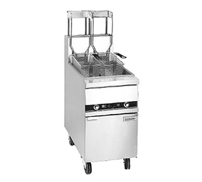 Anets 18AAF NG Fryer w/ Solid State Thermostat & 100-lb Fat Capacity, Filter Ready, NG