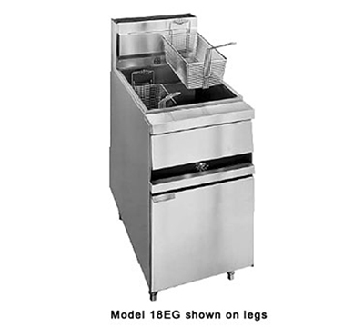 Anets 18EGF LP Fryer w/ Snap Action Hydraulic Control, 100-lb Fat Capacity, Filter Ready, LP