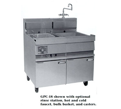 Anets GPC18 NG 18-in Pasta Cooker, Single Tank, w/ Lift-Off Basket Hanger & Solid State, NG