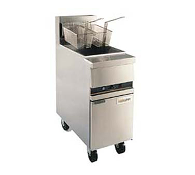 Anets MX14EXAAF NG Fryer w/ 2-Auto Basket Lifts & Timers, 50-lb Fat Capacity, Filter Ready, NG