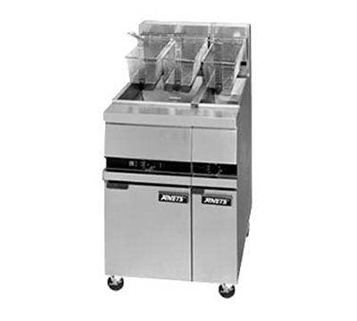 Anets MX7A NG Half-Fryer w/ Digital Controller & Open Vat, 25-lb Fat Capacity, NG
