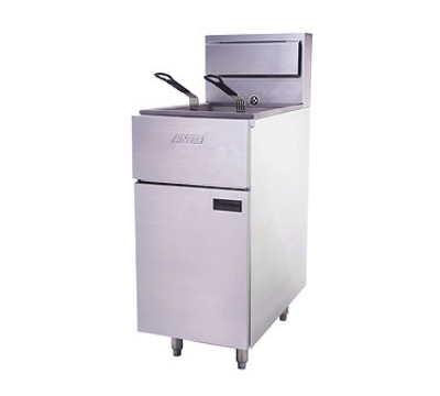 Anets SLG40 LP Floor Model Fryer w/ 35-50-lb Capacity, Stainless Steel, LP