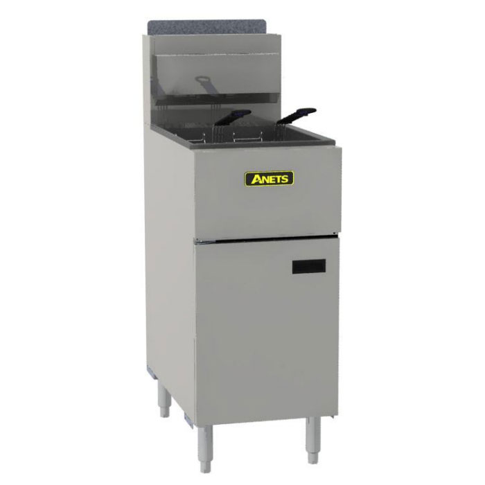 Anets SLG50 NG Floor Model Fryer w/ 43-50-lb Capacity, Stainless Steel, NG