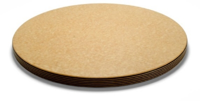 Epicurean 014-001801025 Big Block Cutting Board,18-in Round,1-in Thick, Natural/Slate