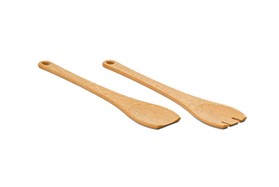Epicurean 015-SALAD01EA Spoon & Fork Salad Server Set, NSF Recycled Paper, Natural