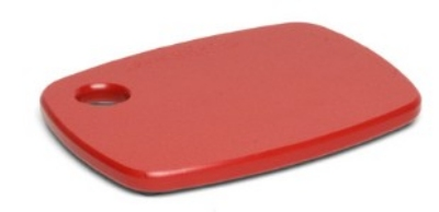 Epicurean 404-08060901 Eco Plastic Cutting Board, 8 x 6-in, Red w/ Gripper Feet, Poly