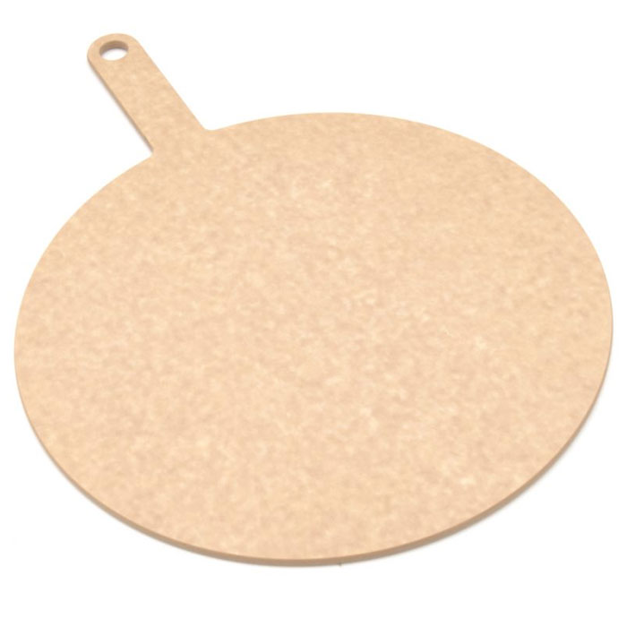 Epicurean 429-151001 10-in Round Pizza Board w/ 5-in Handle, Natural
