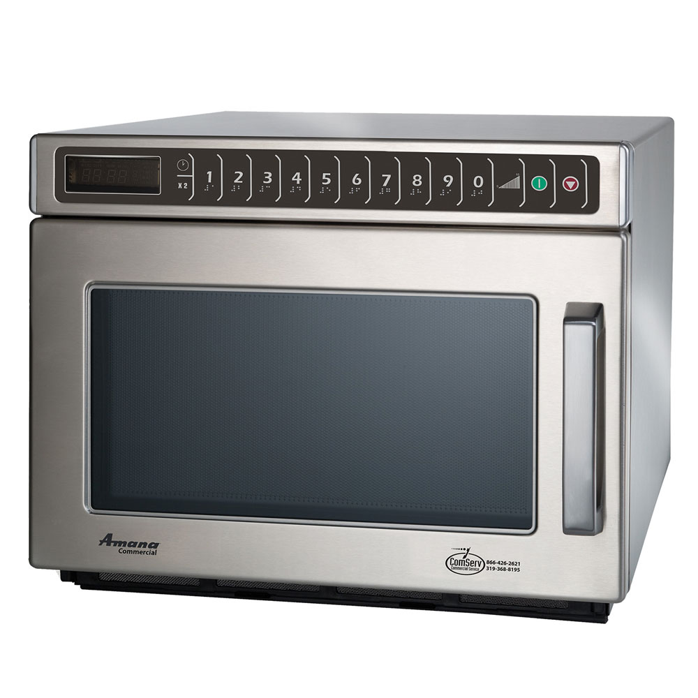 Amana HDC12A2 Commercial Microwave Oven, 1200-Watts, All Stainless