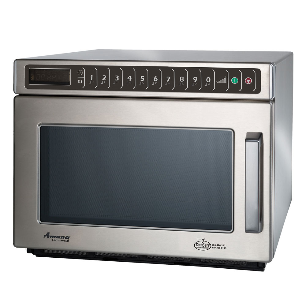 Amana HDC212 Microwave Oven w/ 100-Settings, All Stainless, 208/240 V