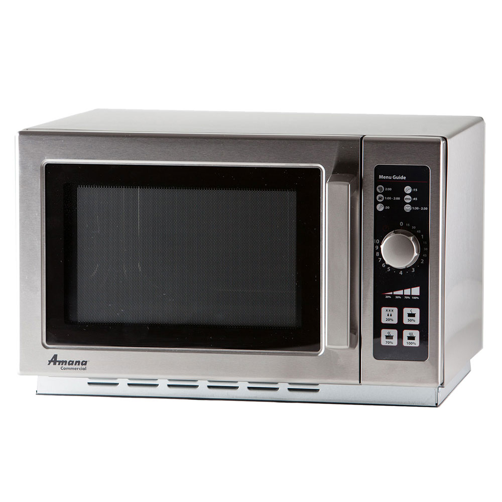 Amana RCS10DSE 1000w Commercial Microwave with Dial Control, 120/1v