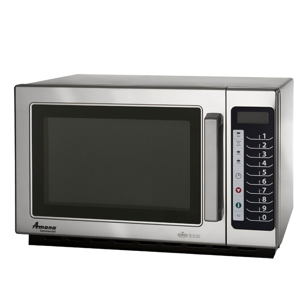 Amana RCS10TS 1000w Commercial Microwave with Touch Pad, 120v