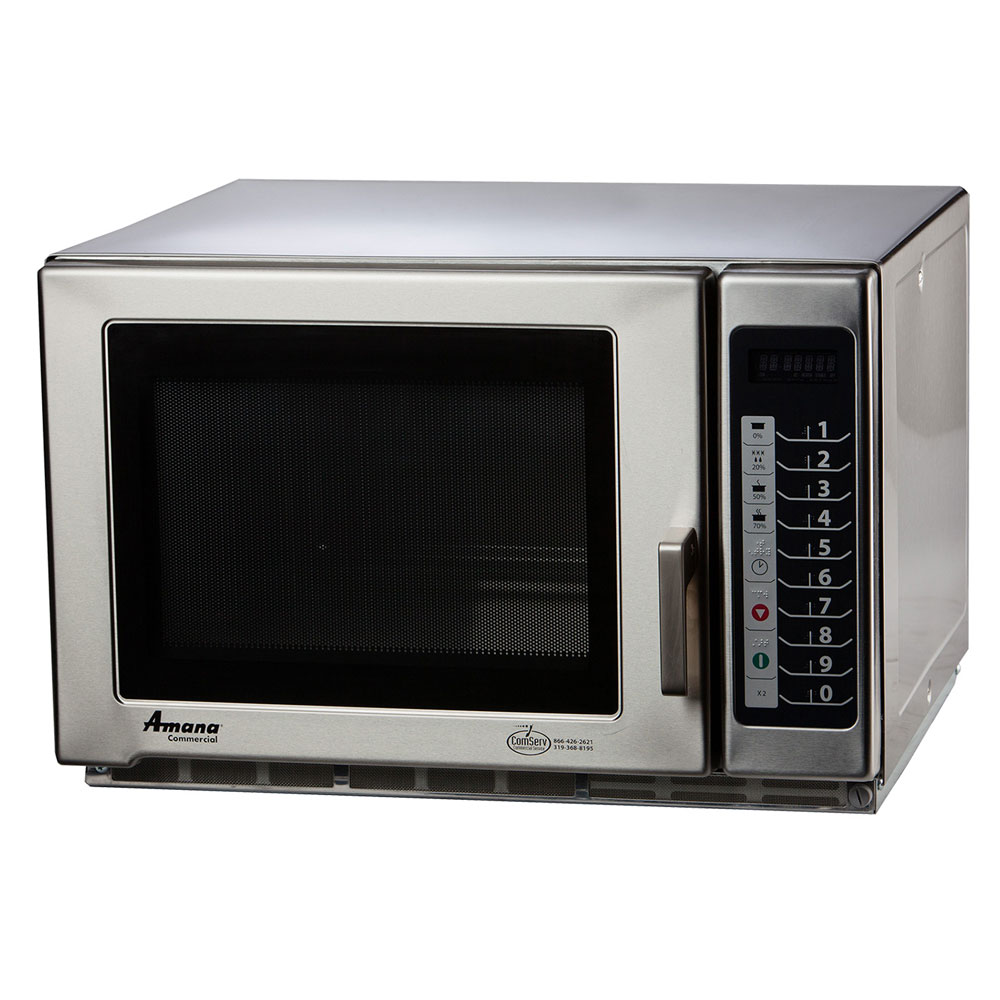 Amana RFS12TS 1200w Commercial Microwave with Touch Pad, 120v