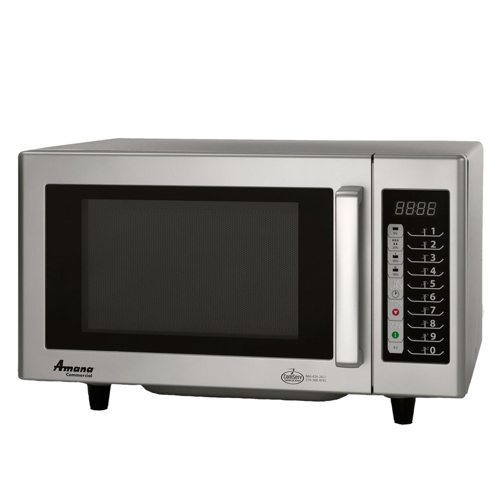 Amana RMS10TS 1000w Commercial Microwave with Touch Pad, 120/1v