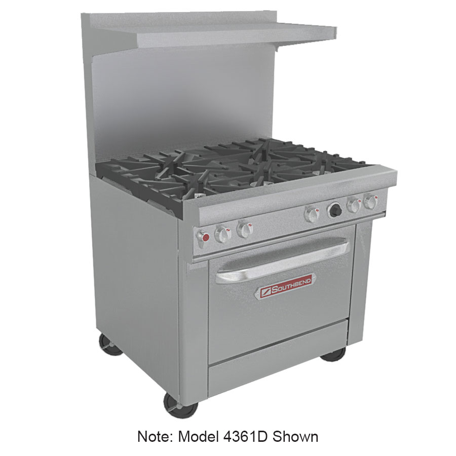 "Southbend 4361A-2CL 36"" 2-Burner Gas Range with Charbroiler, NG"