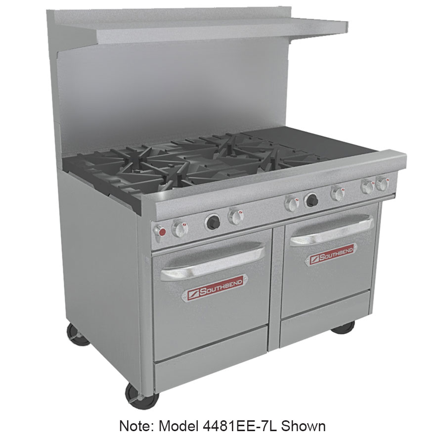 "Southbend 4481EE-2CR 48"" 4-Burner Gas Range with Charbroiler, LP"