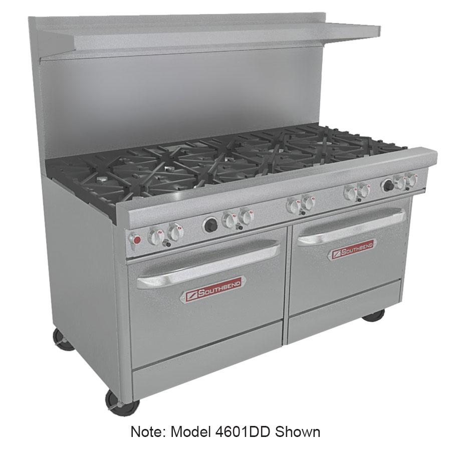"""Southbend 4601DD-5L 60"""" 9-Burner Gas Range, LP"""