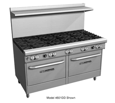 "Southbend 4603AD-4GL 60"" 2-Burner Gas Range with Griddle, LP"