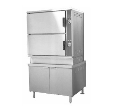 Southbend DCX16 Convection Steamer & Cabinet Base, 36-in, Direct Steam, 2-Compart
