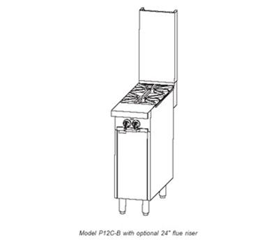 "Southbend P12N-B 12"" 2-Burner Gas Range, NG"