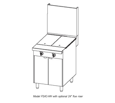 """Southbend P24N-HH 24"""" Gas Range with Hot Top, LP"""