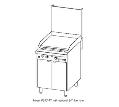"Southbend P24N-TT 24"" Gas Range with Griddle, LP"