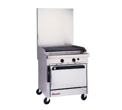 "Southbend P32A-CC 32"" Gas Range with Charbroiler, LP"