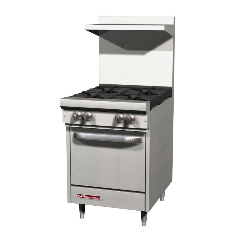 "Southbend S24E 24"" 4-Burner Gas Range with Griddle, NG"