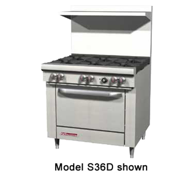 "Southbend S36A 36"" 6-Burner Gas Range, LP"