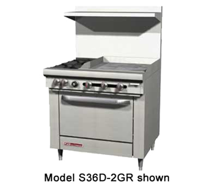 "Southbend S36D-3G 36"" Gas Range with Griddle, NG"