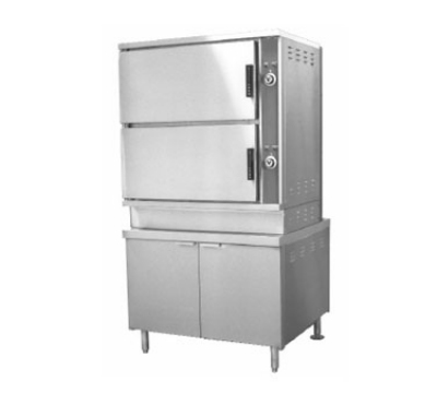 Southbend ECX-16 2083 2-Compartment Convection Steamer, 8-Pan, 36-in Cabinet, 208/3 V