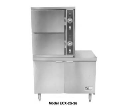 Southbend ECX-2S-36 2083 2-Compartment Convection Steamer, 6-Pan, 36-in Cabinet, 208/3 V