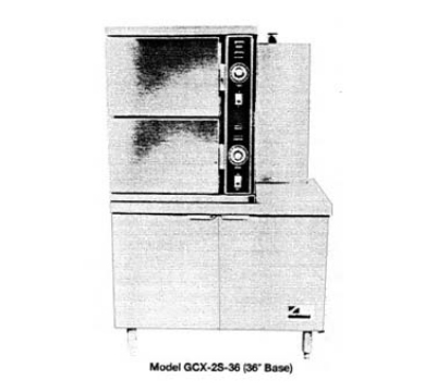 Southbend GCX-2S LP 2-Compartment Convection Steamer, 6-Pan, 24-in Cabinet, LP