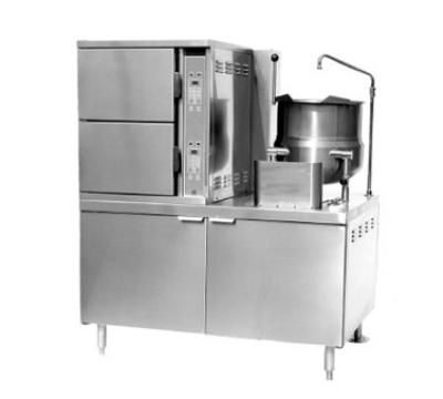 Southbend GCX-2S-10 LP Convection Steamer & 10-Gallon Kettle, 6-Pan, 48-in Cabinet, LP