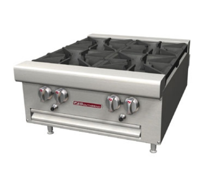 Southbend HDO-48 NG 48-in Countertop Hotplate w/ 8-Open Burners, Cast-Iron Grates, NG
