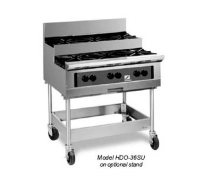 Southbend HDO-36SU LP 36-in Countertop Hotplate w/ Step-Up 6-Open Burners, Cast-Iron Grates, LP