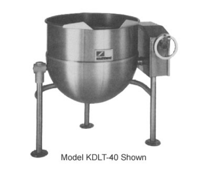 Southbend KDLT-60 60-Gallon Direct Steam Kettle, Crank Tilt, 2/3-Jacket